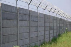 Precast Wall 2.4m with Razor Wire Top