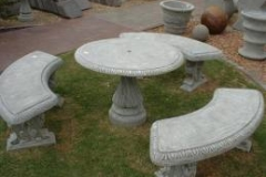 Concrete Garden Set-Curved