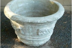 Concrete Pot Draped Fruit