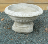 Concrete Pot Fluted Bowl