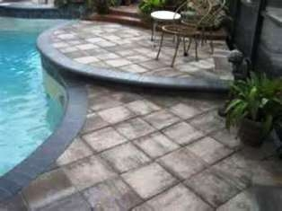 Poolside Paving with combination of blocks