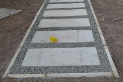 Millican Paving Blocks with kerbs and stone