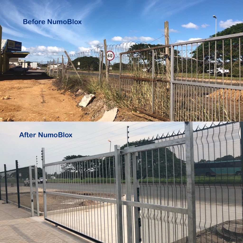 NumoBlox property improvement before and after site upgrade